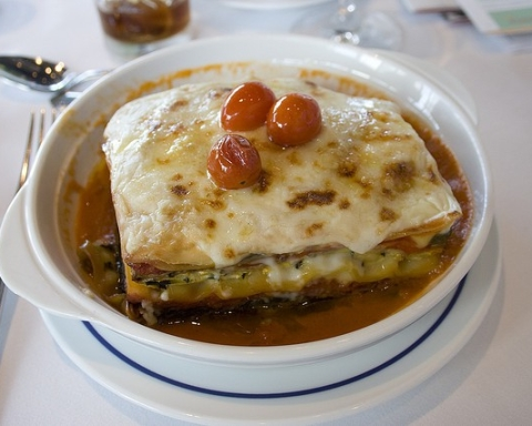 lasagna veggie con crema di zucca