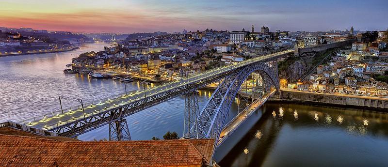 Il Ponte Dom Luis I al tramonto