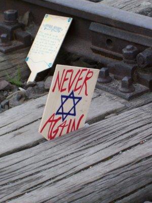 Particolare del binario ad Auschwitz