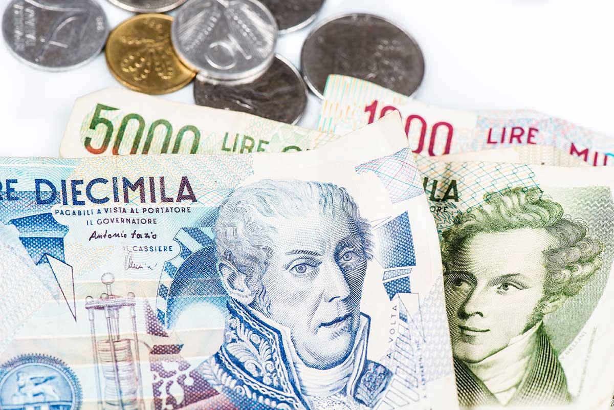 Lire italiane: carta e monete