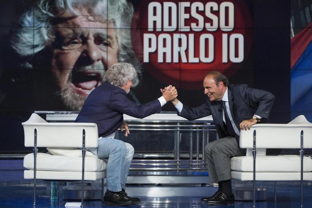 """Beppe Grillo ospite a """"Porta a Porta"""""""