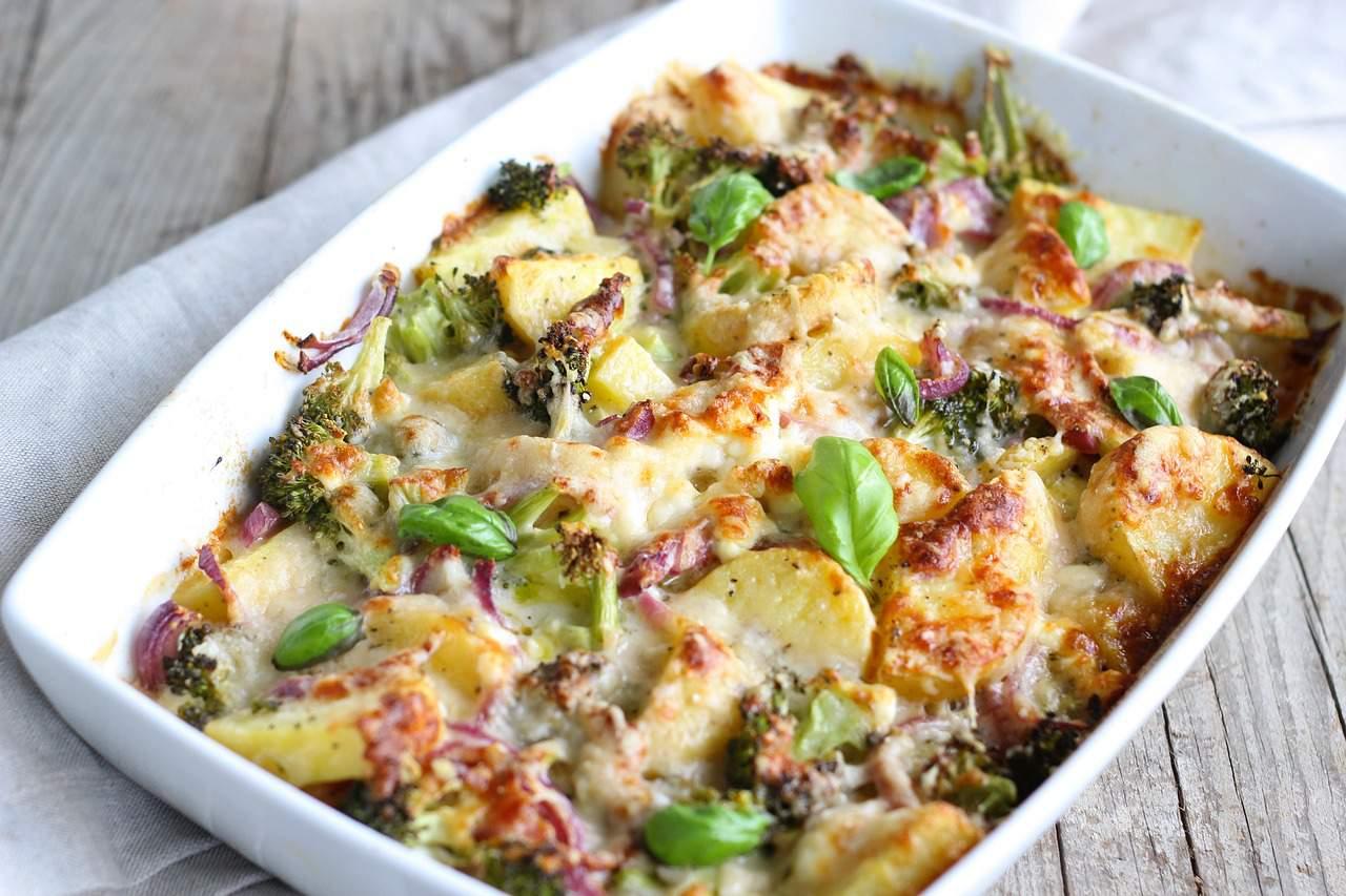 broccoli e patate gratin