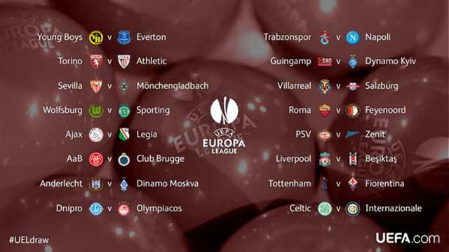 Sedicesimi di finale Europa League