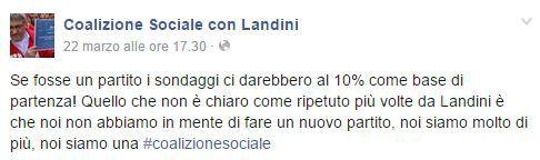 Landini coalizione sociale