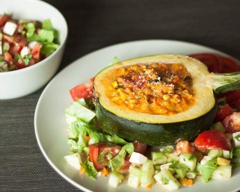 zucchine tonde ripiene vegetariani