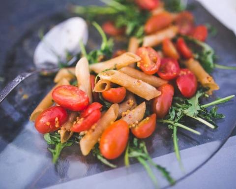 pomodorini confit e pasta fredda