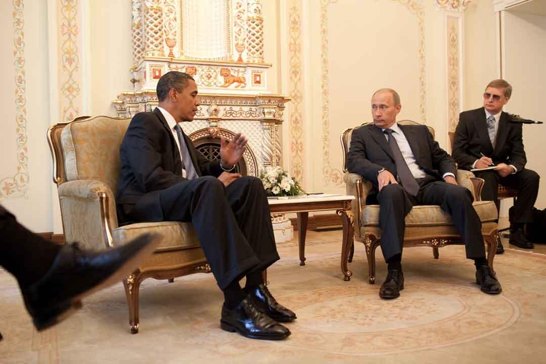 Vladimir Putin a colloquio con Barack Obama