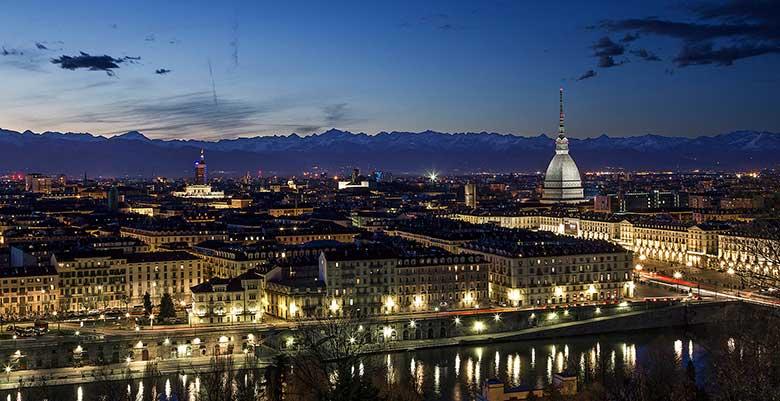 Piemonte vista di Torino Mole Antonelliana