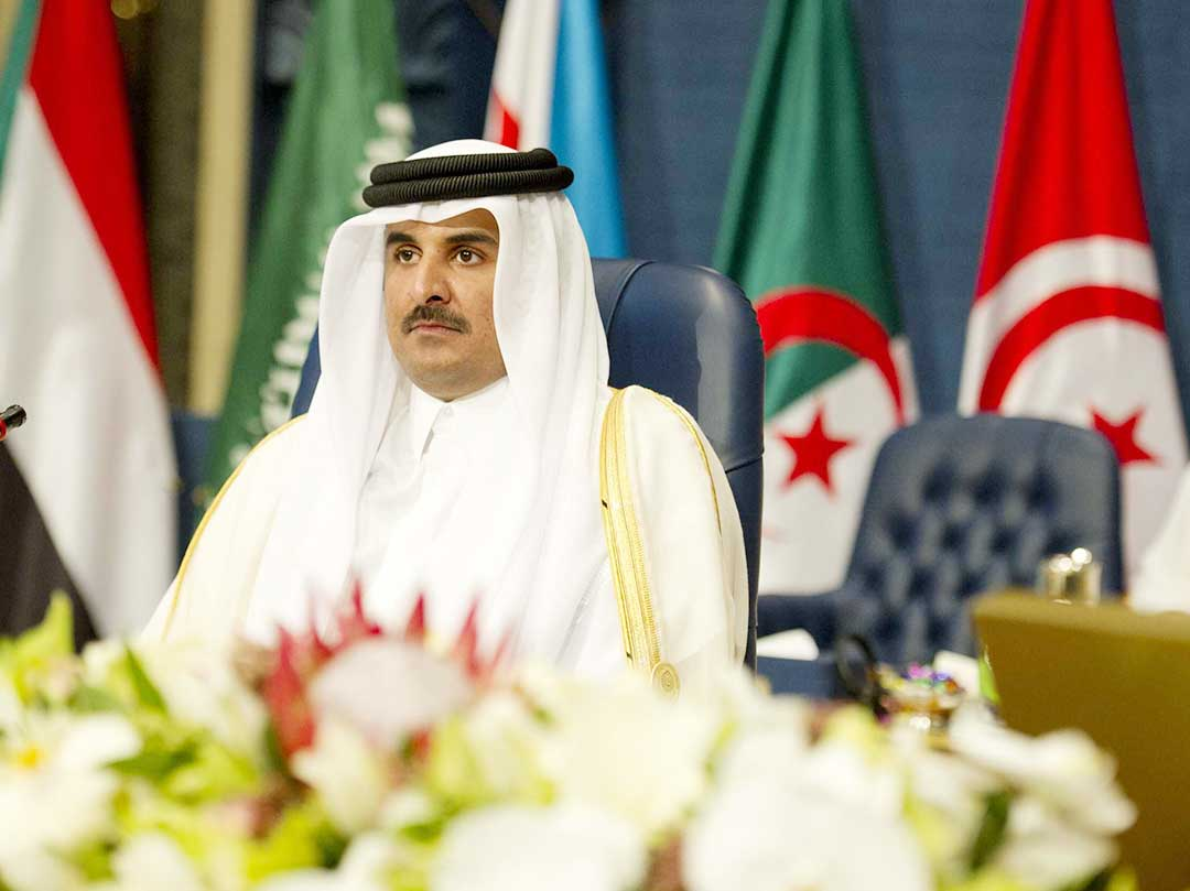 L'emiro del Qatar Sheikh Tamin bin Hamad al Thani