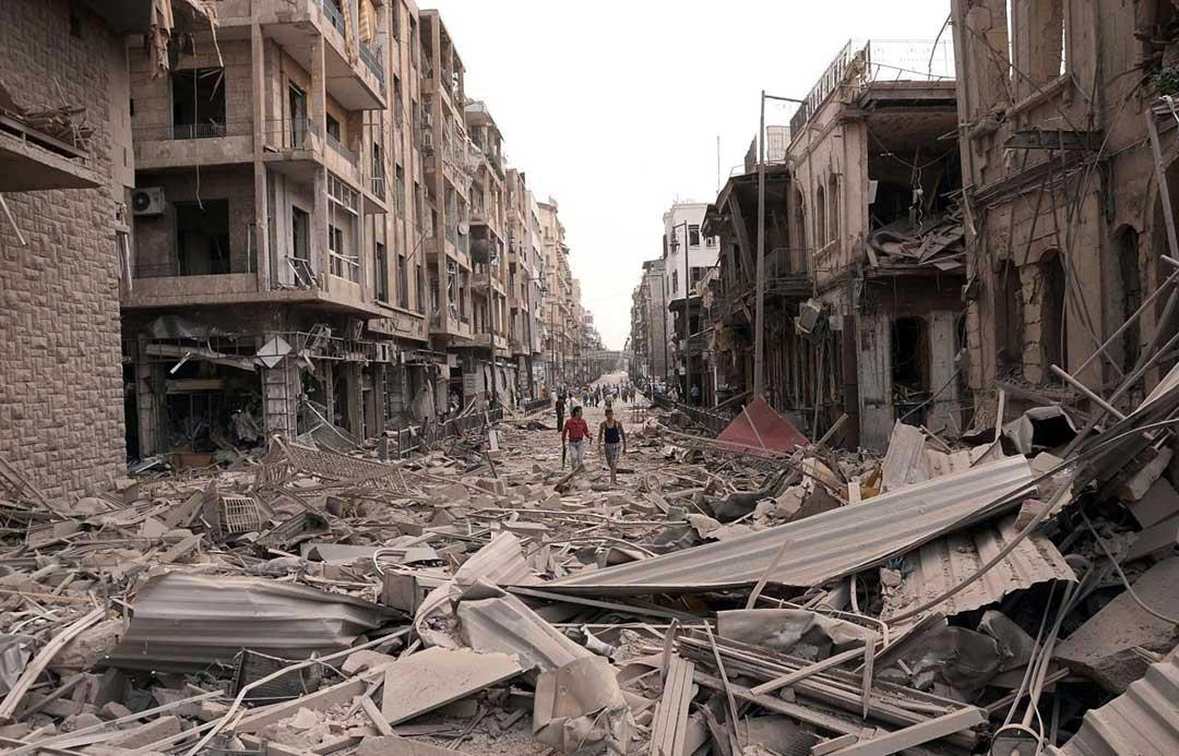 Immagine della catastrofe della guerra in Siria: cosa succede in Siria?