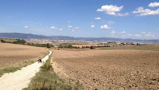 Cammino di Santiago in bicicletta Alto del Perdòn