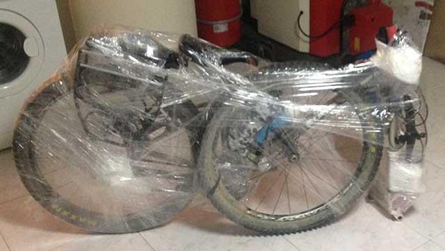 Cammino di Santiago in bicicletta imballaggio