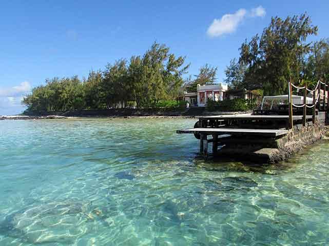 Lo splendido mare cristallino dell'isola di Mauritius