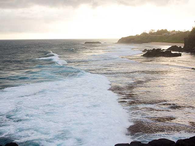 La scogliera che urla e piange sull'isola di Mauritius