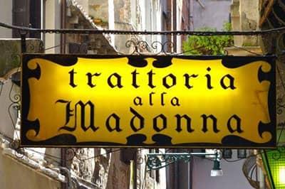 Venezia misteriosa Trattoria alla Madonna