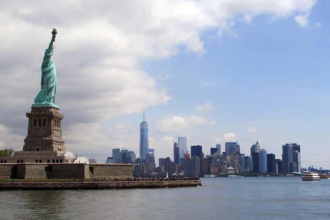 Punti panoramici New York Liberty Island Statua della Libertà Manhattan
