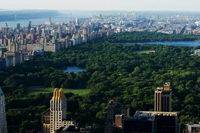 Punti panoramici New York Top of the Rock Central Park