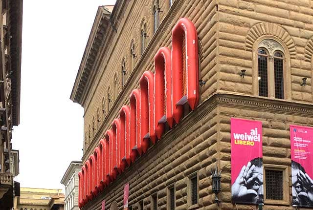 Ai Weiwei Firenze gommoni