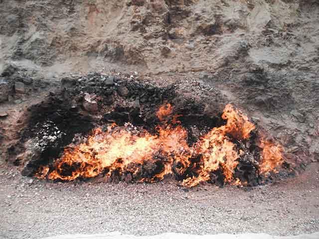 Baku collina del fuoco perenne Yanar Dag