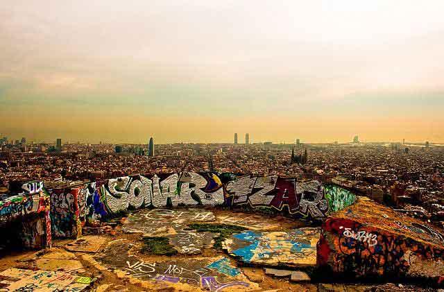 Barcellona non turistica Los Bunkers