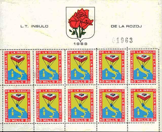 Isola delle Rose francobolli