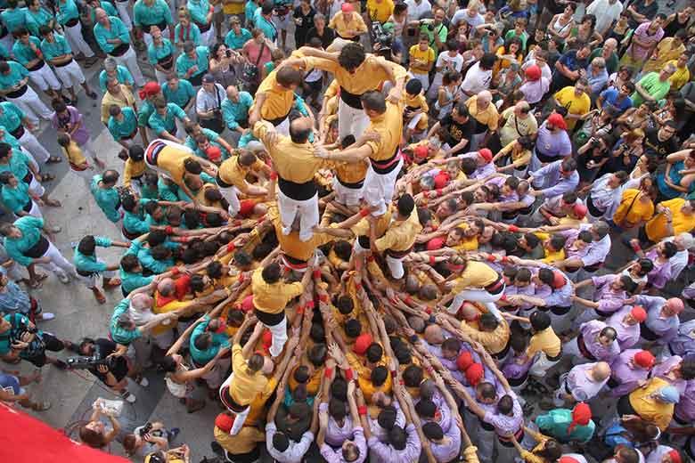 tradizioni di Barcellona Els Castellers