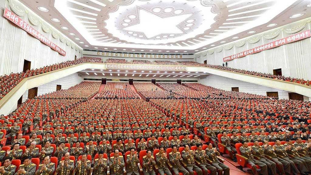 Celebrazioni a Pyongyang, capitale della Repubblica Popolare della Corea del Nord