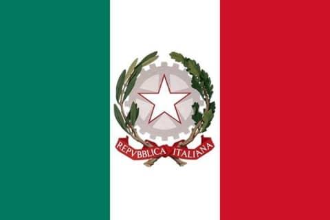 Bandiera della Repubblica Italiana - 2 giugno festa della Repubblica italiana