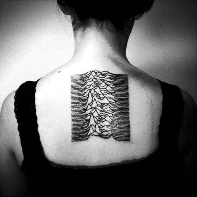 Joy Division Unknown Pleasures tattoo