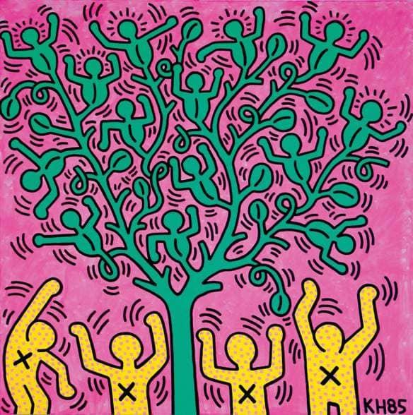 Acrilico di Keith Haring