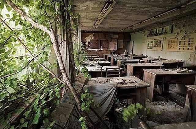 visitare Chernobyl scuola di Prypiat