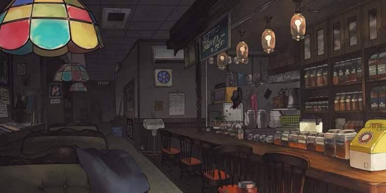 Gli interni del café di Persona 5