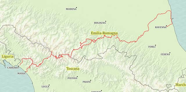 Trekking Linea Gotica percorso