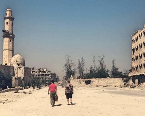Il Pimpa per le strade di Aleppo