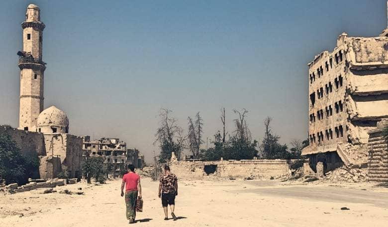 Pimpa per le strade di Aleppo