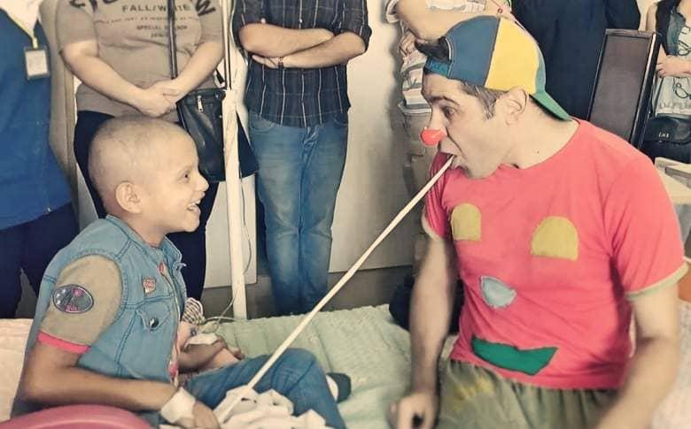 clown pimpa in ospedale siriano