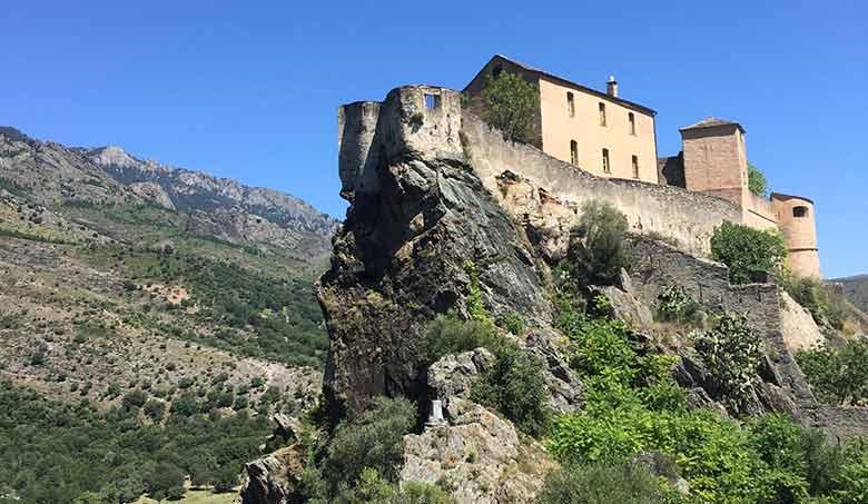 Corsica in bici cittadella di Corte