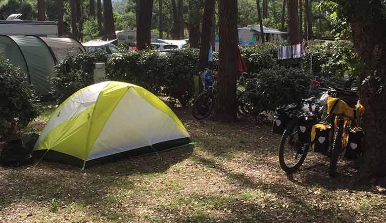 Corsica in bici campeggio