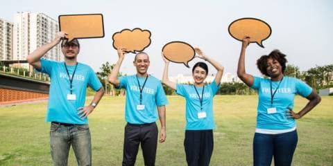 Volontari di un'organizzazione