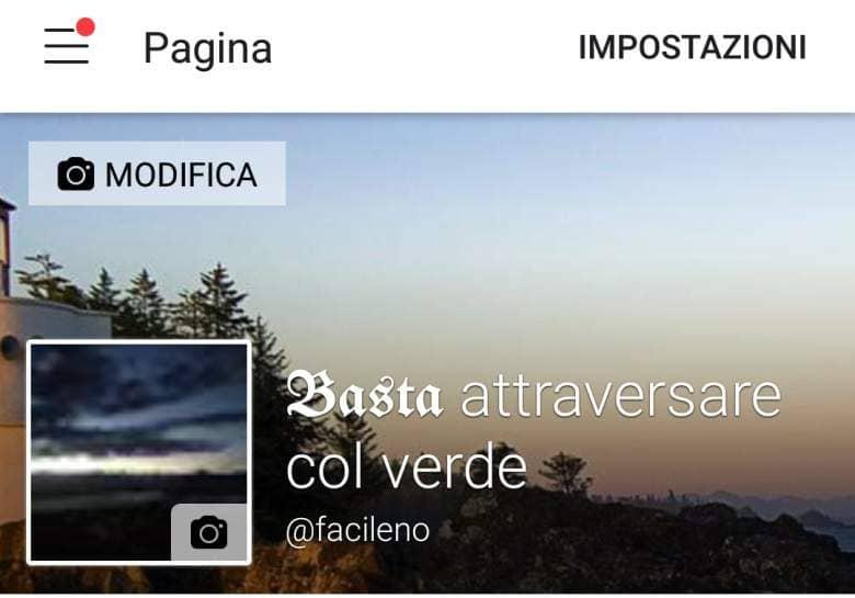Copertina Facebook mobile