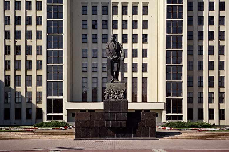 Statua Lenin Minsk