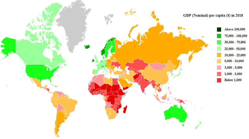 paesi più ricchi del mondo
