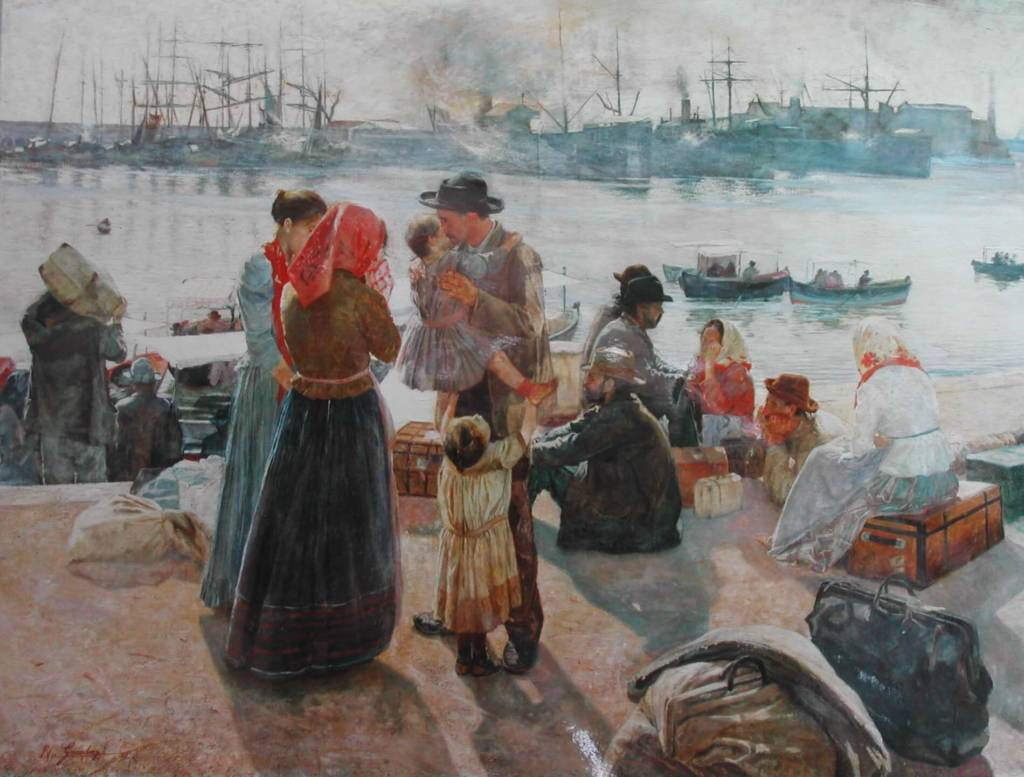 Raffaello_Gambogi_-_The_Immigrants_(1894)