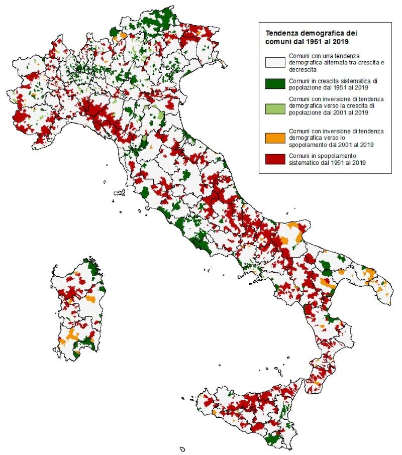 tendenze demografiche in Italia